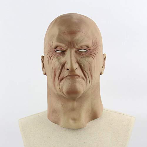 Delicacydex Halloween gruselig schrecklich unheimlich realistisch grausig alte Mann Maske Cosplay Kostüme Partei Requisiten Maskerade Supplies - Hautfarbe