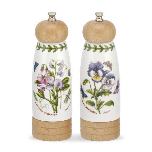 Botanic Garden-Porzellan-Salz- und Pfeffermühlen, 19,3cm, Set von 2, mehrfarbig