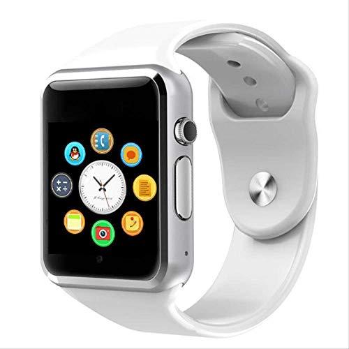 LMDZSW Nuevo Reloj Inteligente Reloj Sync Notifier Soporte para Tarjeta Sim TF Conectividad Apple iPhone Teléfono Android Mujeres Hombres Smartwatch Blanco