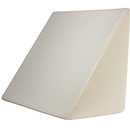 Purovi® cuscino a cuneo per letto e divano | supporto lombare | ideale per lettura e tv | perfetto cuscino da divano