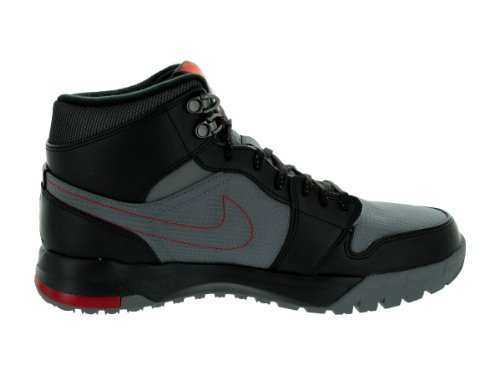 Nike Air Jordan 1 Trek Boots Winterboots Sneaker braun/blau/gelb Cool Grey / Gym Red / Black