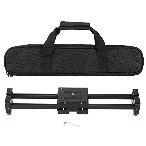 """Andoer V2-500 kompakt einziehbare Track Dolly Slider 50cm Schiene Shooting Stabilisator Schwebestativ Stabilisator für Kompakt Kamera/DSLR/Video 86cm mit 1/4"""" und 3/8""""-Gewinde-Schraube 8Kg / 17Lbs"""