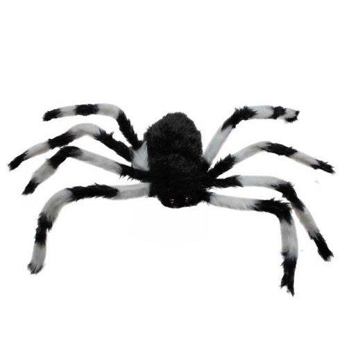 75cm große Spinne Plüschtier / Halloween Dekoration (Schwarz und Weiß) (Halloween-augen Schwarz Und Weiß)