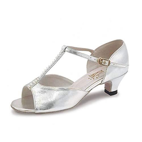 Roch Valley Lara Standard Tanzschuh für Damen und Mädchen Silber 3 (36)