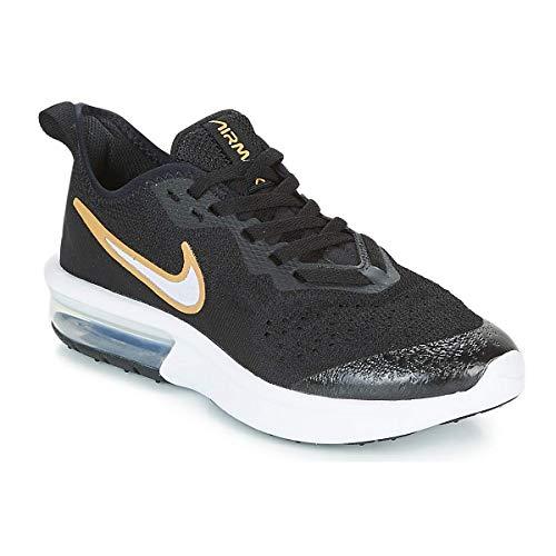 Nike Damen Air Max Sequent 4 Sh (Gs) Fitnessschuhe, Mehrfarbig (Black Metallic Gold/White 001), 39 EU