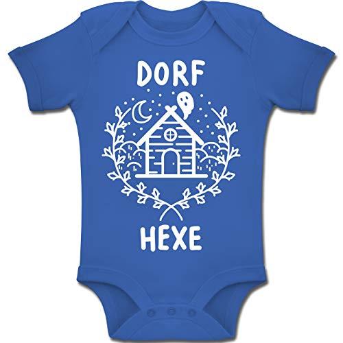 Shirtracer Anlässe Baby - Dorfhexe Halloween - 3-6 Monate - Royalblau - BZ10 - Baby Body Kurzarm Jungen Mädchen (Weiße Magierin Kostüm Kind)