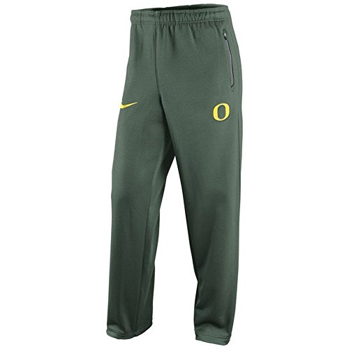 Nike Herren Therma Fit KO Kette Fleece Oregon Ducks Pants grün Medium