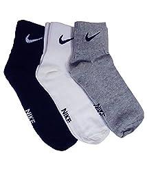 Nike Cotton Socks, (Pack of 3)