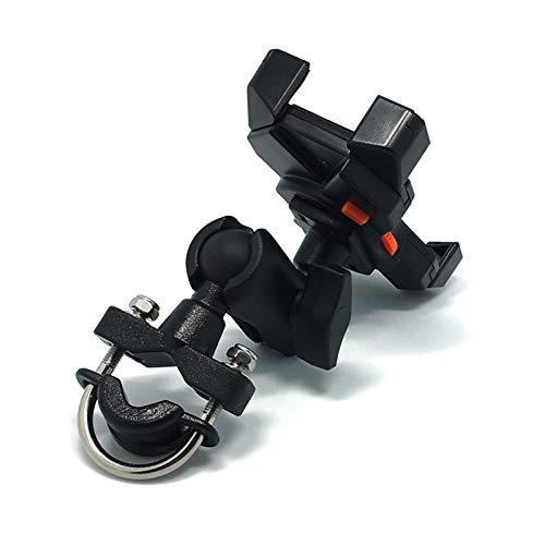 WERNG Motorradhalterung, GPS-Motorrad-Handy-Schwenk Vier-Klauen-Halterung Fahrrad-Handy-Sitz Verstellbare Rückansicht Lenkerhalterung,A -