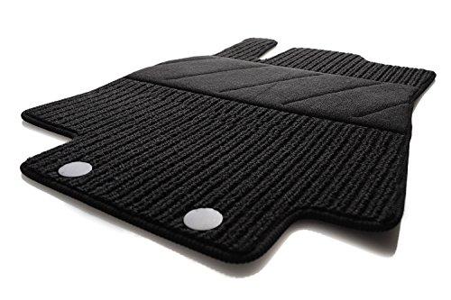 kh Teile Fußmatten/Rips Automatten Original Qualität, Ripsmatten Fahrermatte schwarz mit Absatzschoner