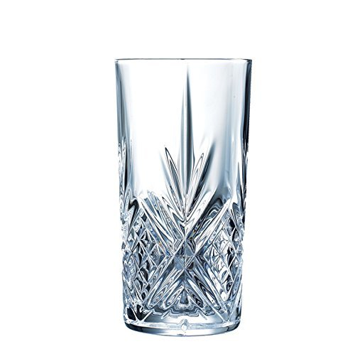 Cristal d´Arques, Masquerade FH38 Hi-ball Tumbler 380ml, without filling mark, 6 Tumbler