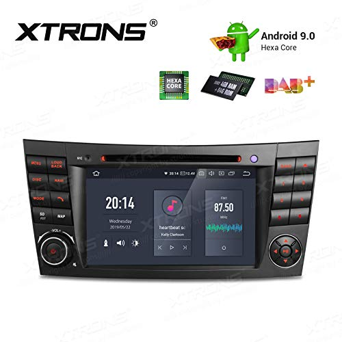"XTRONS 7"" 4GB RAM 64GB ROM 6 Core Android 9.0 Autoradio mit Touchscreen Auto DVD Player Hexa Core Autostereo unterstützt 3G 4G 4K Video Bluetooth DAB OBD2 TPMS FÜR Mercedes Benz W211"