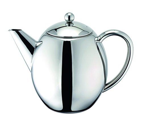 Weis 17350 Teekanne 1 Liter aus Edelstahl doppelwandig thermoisoliert inklusive Filter