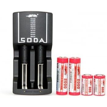 Chargeur Intelligent Soda Efest Pour Accu li-ion li-Mn 3.7V