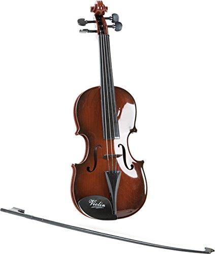 Violine Klassik aus stabiler Kunststoffverarbeitung, inkl. schwarzem Bogen mit Kunststoffhaaren, weckt das Interesse an Streichinstrumenten und fördert das musikalische Verständnis