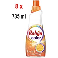 '8X robijn de lessive liquide Color Petit & Son puissant (Petit & forte)–21Lavages–735ml