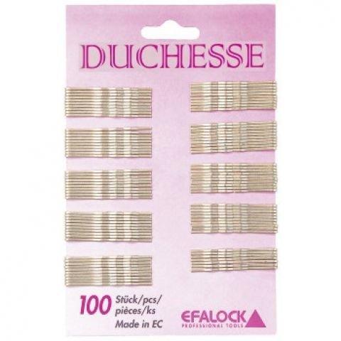 Efalock Haarklemmen Duchesse 50 mm, braun, 1er Pack (1 x 100 Stück)