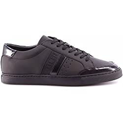 Scarpe Uomo Sneakers BIKKEMBERGS BKE108239 Soccer Rubber Leather Black Nere New