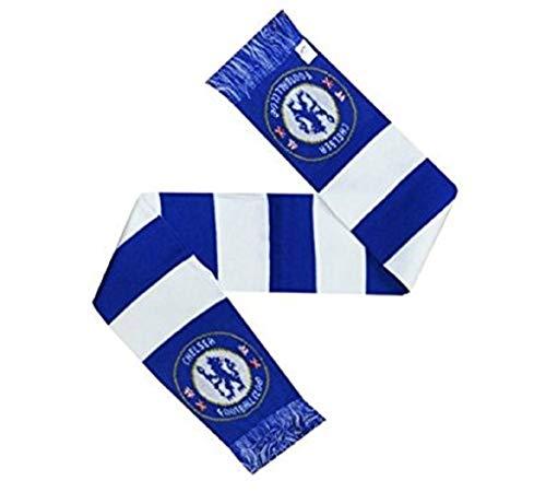 Neu Offiziell Fussball Team Gestrickt Balken Schal (Verschiedene Teams sich Wähle von Qualität 10 Anzeige Acryl Stoff Schal - Chelsea FC -
