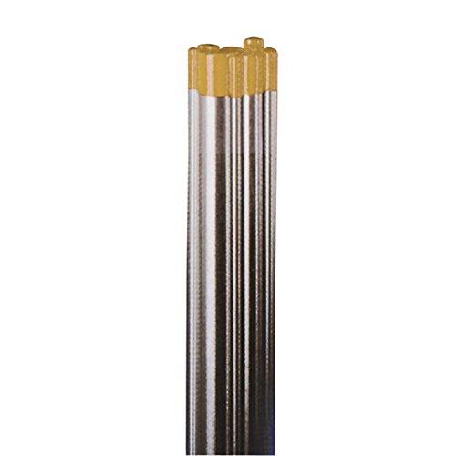 Wolfram-Elektrode WIG WL 15 gold für Gleichstrom und Wechselstrom AC/DC, enthält 1,5{2ba3d96b31f8995daf5c08f57ac11db76125bcbaf6dc0190d569b6bb9ebd21fe} Lanthanoxid, 175 mm Länge, Thoriumfrei, entspricht DIN EN 26848, VPE 10 Stk., Durchmesser:Ø 1.0 mm