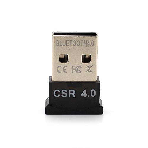 Yizhet USB nano Bluetooth 4.0 Adapter V4.0 Plug & Play Mini Bluetooth USB Dongle Receiver Transmitter für PC, Kopfhörer, Laptop, Tastatur, Maus, Drucker, Windows 10 fähig