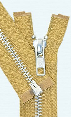 90cm Jacket Zipper ~ YKK #5 Aluminium Metal ~ Medium Weight YKK Zipper ~ Separating Bottom ~ 508 Golden Brown (1