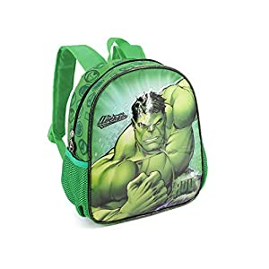 41YuVwruhdL. SS300  - Karactermania Hulk Rage-Kindergarten Rucksack Mochila Infantil 30 Centimeters 7 Verde (Green)