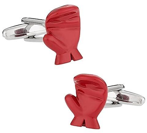 Cuff-Daddy Paire de boutons de manchette en forme de gant de boxe