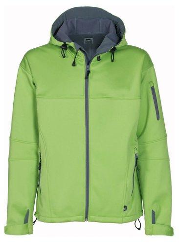 Hochwertig weiche Ladies Outdoor Softshell Jacke mit Fleece Black/Grey