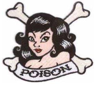 Ecusson thermocollant Motif os et femme Inscription \