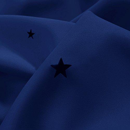 PONY DANCE ausgestanzt Sterne Verdunkelungsvorhänge mit Ösen, blinkt für Kinderzimmer, Schlafzimmer, 1 Paar - 2
