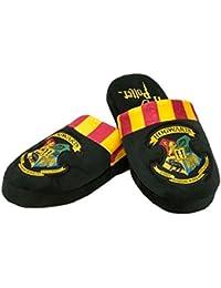 HARRY POTTER Poudlard Crest Ladies Pantoufles en Peluche Pantoufles Noires 8c613b6f2fef