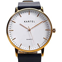 Kartel KT-LEW-RGN Lewis Navy Leather Strap Watch