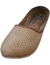 Kalra Creations - Zapatillas de estar por casa de Piel para hombre, color marrón, talla 39,5 EU