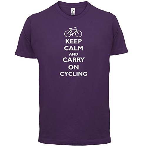 Keep calm and carry on Cycling - Herren T-Shirt - 13 Farben Lila