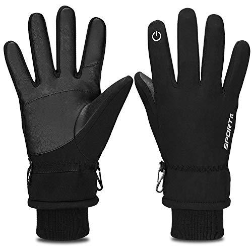Yobenki Winterhandschuhe Warm Skihandschuhe Fahrradhandschuhe wasserdichte Touchscreen Handschuhe Sporthandschuhe Unisex Outdoor Arbeit Gloves für Snowboarden,Laufen,Schaufeln im Winter -20°F(-28°C)