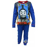 Boys Thomas and Friends Blue Long Pyjamas Ages 18 Months to 5 Years