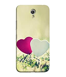 FUSON Designer Back Case Cover for Lenovo ZUK Z1 (Love Heart With Secrets Cute Logic Blue Background red Heart)