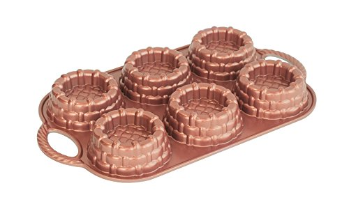 'Nordic Ware 3D Mini Flan Baking Mould Made of High Quality Aluminium for Small Beautiful Desserts
