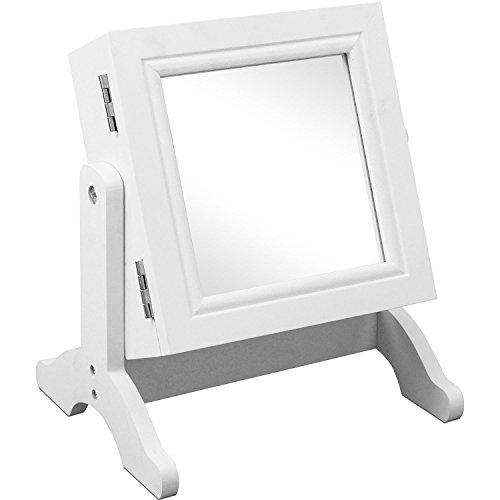 Schmuckschrank mit Spiegel Schmuckkasten Schmuckkästchen Schmuckkommode Schmuck Weiß