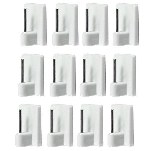 12 Stück Haken Aufkleber für Stangen Vorhänge Linienführung