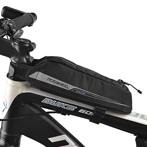 Roswheel Fahrradtasche Energy Oberrohrtasche für Rennrad-Rennen/Triathlon-Fahrräder, Rahmentasche Wasserdicht Schwarz 0.4L