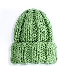 LUCKY-U Gorros De Punto Sombreros Tejido para Mujer Invierno Cálido Color  Sólido Lana Áspera Aire Libre Ocio Senderismo Esquí… 0f3a0767ea8