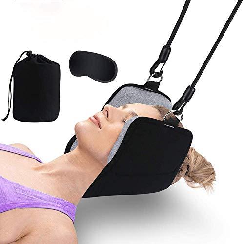 BD.Y Gute Qualität Neck Traction, Hängematte für den Nacken, Nackenrelief-Massagegerät für Fitness Yoga Travel, mit Augenmaske