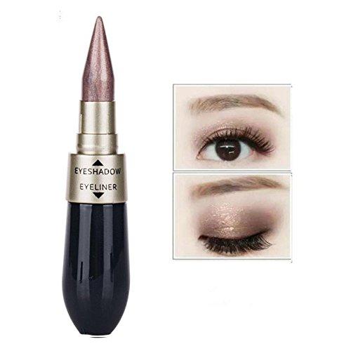 17 Doppel-End wasserdicht Liquid eyeshadow Eyeliner Kombination einfach zu tragen Make-up (A) (E) (Tragen Make Up)