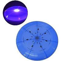 ueetek perro Frisbee juguete Flying Disc LED Linterna Frisbee LED Coaster (Luz Azul)