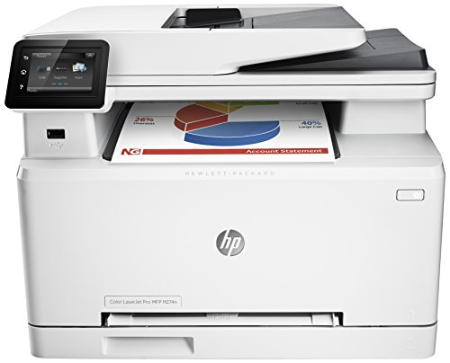 HP Color LaserJet Pro M274n Farblaserdrucker Multifunktionsgerät (Drucker, Scanner, Kopierer, LAN, HP ePrint, Apple Airprint, USB, 600 x 600 dpi) weiß (Farb-drucker-scanner Kleine)