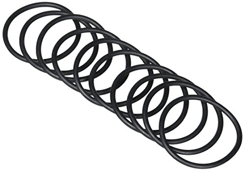 Price comparison product image 46mm x 40mm x 3mm Black Rubber O Shaped Rings Oil Seal Gasket Washer 10 Pcs