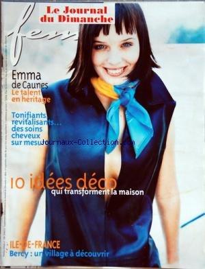 FEMINA HEBDO [No 198] du 17/09/2000 - EMMA DE CAUNES -DES SOINS CHEVEUX SUR MESURE -10 IDEES DECO -BERCY / UN VILLAGE A DECOUVRIR