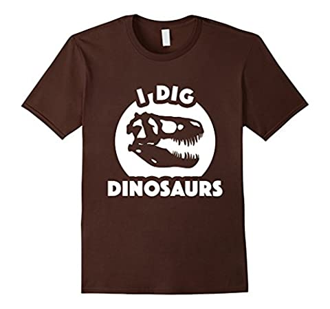 I Dig Dinosaurs T-Shirt | Paleontology T-Shirt Funny-Herren, Größe M-Braun